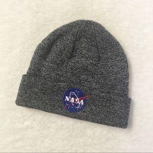 Nasa Toque Embroidered Heather Grey Hat